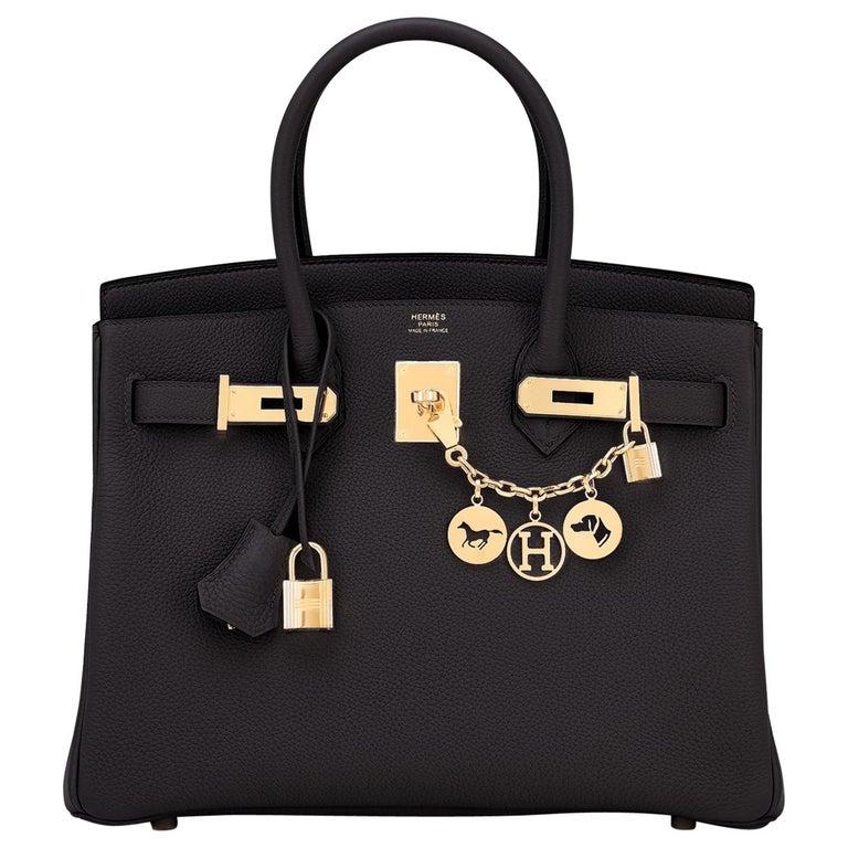 Hermes Birkin 30cm Black Togo Gold Hardware Bag Y Stamp, 2020 For Sale