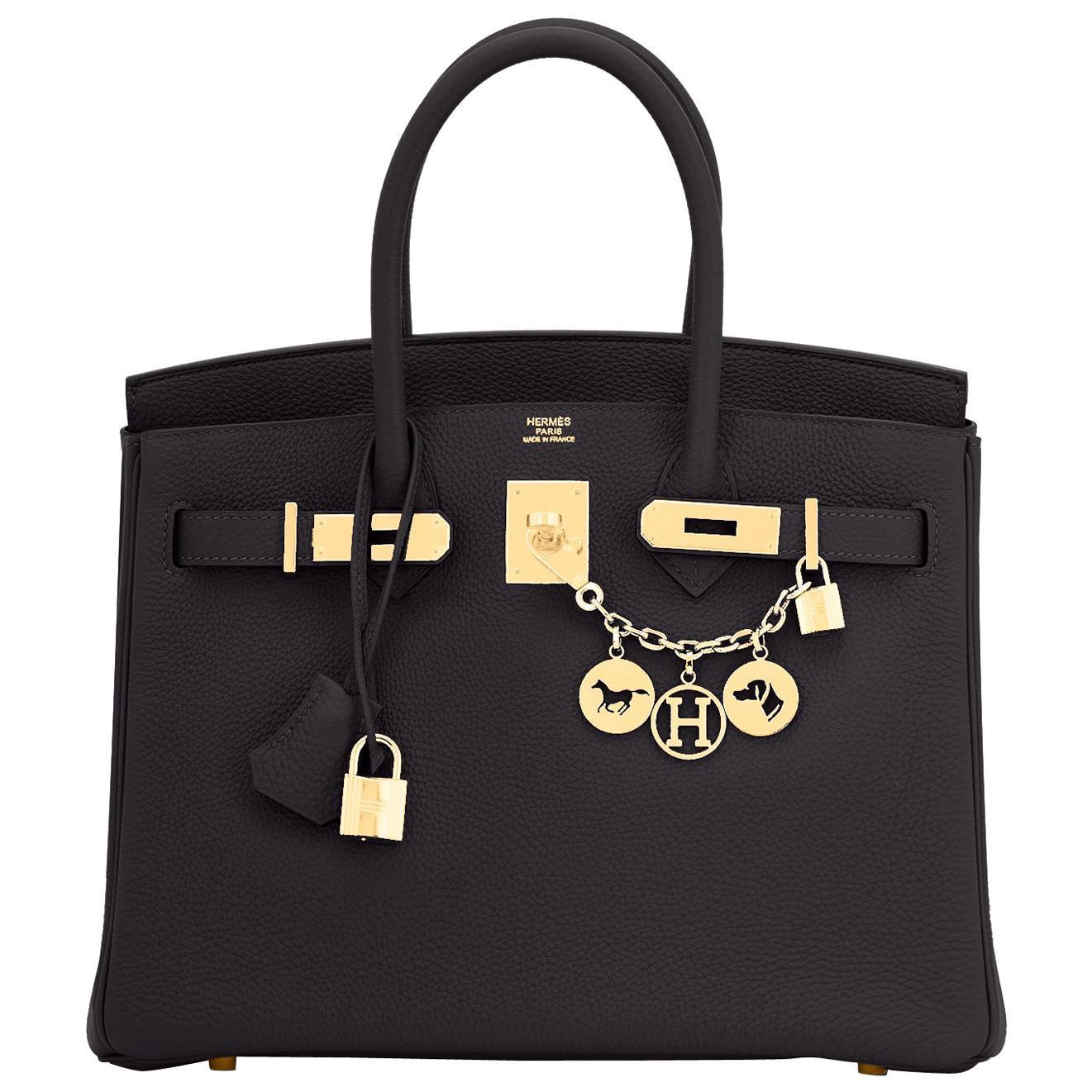 Hermes Birkin 30cm Black Togo Gold Hardware Bag Y Stamp, 2020