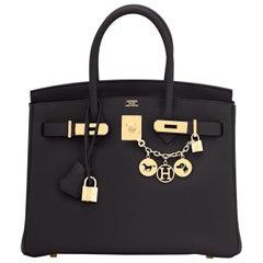Hermes Birkin 30cm Black Togo Gold Hardware Bag Z Stamp, 2021