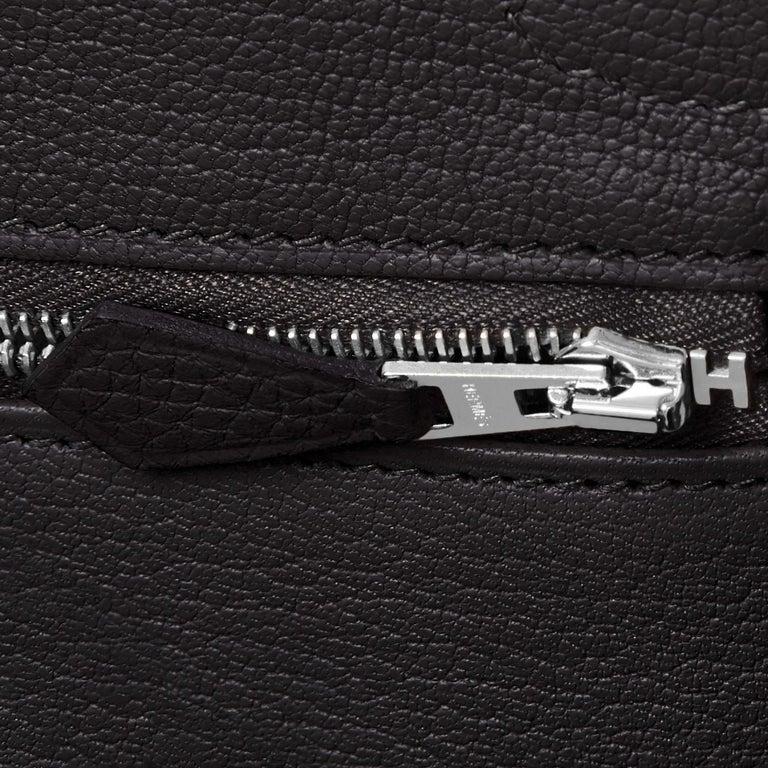 Hermes Birkin 30cm Black Togo Palladium Hardware Bag Y Stamp, 2020 For Sale 7