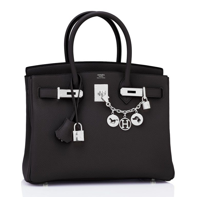 Hermes Birkin 30cm Black Togo Palladium Hardware Bag Y Stamp, 2020 Brand New in Box. Store Fresh. Pristine Condition (with plastic on hardware) Just purchased from Hermes store; bag bears new 2020 interior Y stamp!  Perfect gift! Comes with keys,
