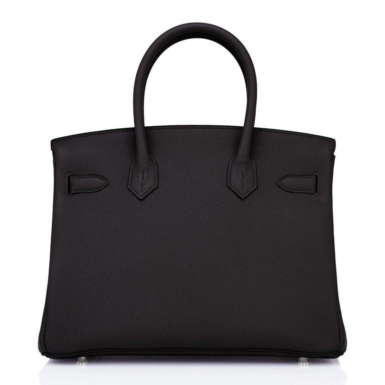 Hermes Birkin 30cm Black Togo Palladium Hardware Bag Y Stamp, 2020 For Sale 1