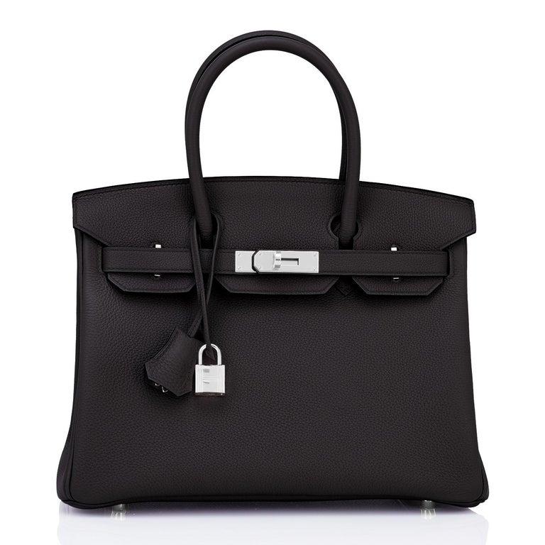 Hermes Birkin 30cm Black Togo Palladium Hardware Bag Y Stamp, 2020 For Sale 2