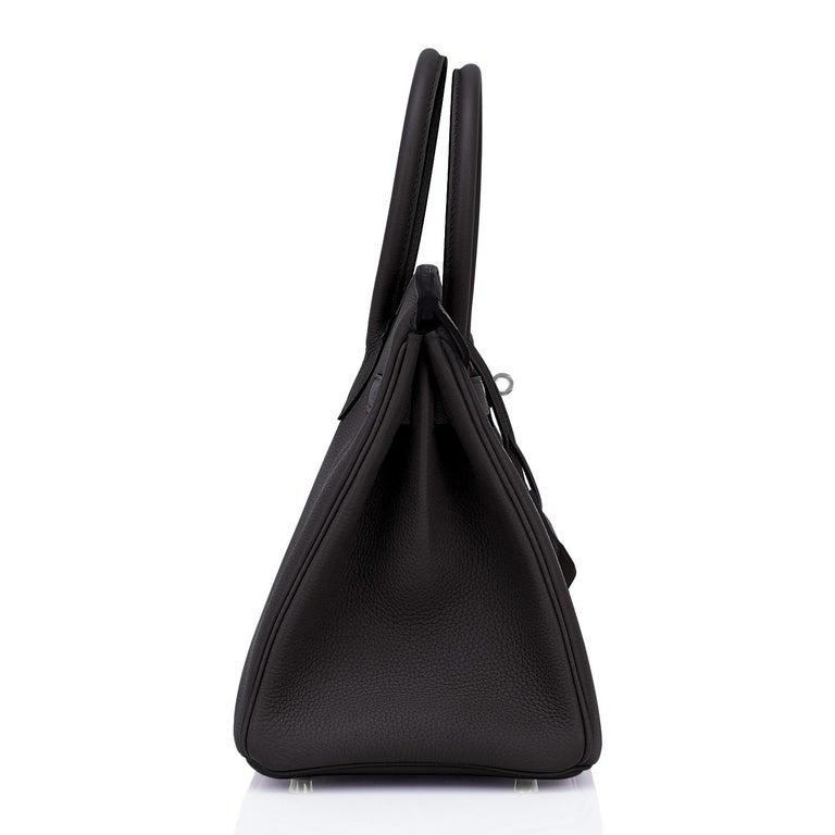 Hermes Birkin 30cm Black Togo Palladium Hardware Bag Y Stamp, 2020 For Sale 3
