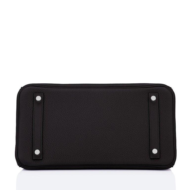 Hermes Birkin 30cm Black Togo Palladium Hardware Bag Y Stamp, 2020 For Sale 5
