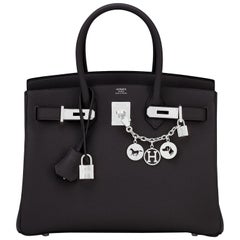 Hermes Birkin 30cm Black Togo Palladium Hardware Bag Y Stamp, 2020