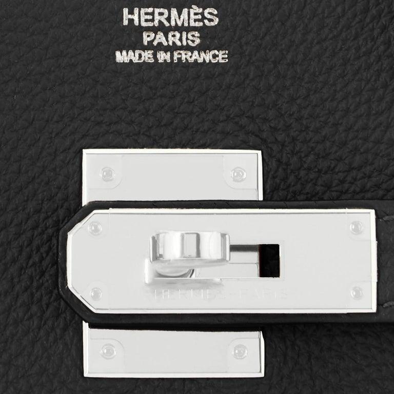 Hermes Birkin 30cm Black Togo Palladium Hardware Bag Z Stamp, 2021 For Sale 8