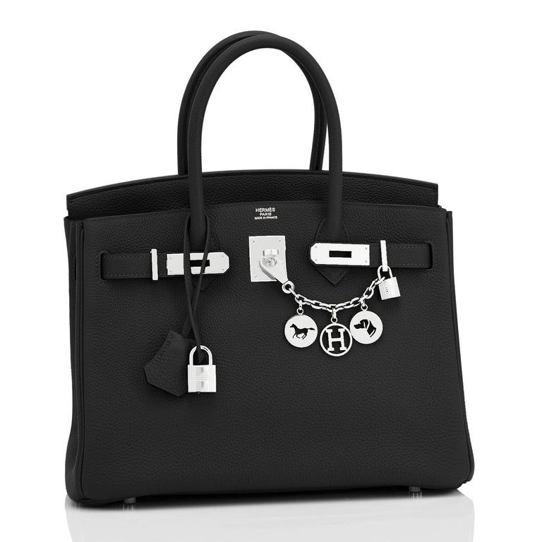 Hermes Birkin 30cm Black Togo Palladium Hardware Bag Z Stamp, 2021 Just purchased from Hermes store; bag bears new 2021 interior Z Stamp. Brand New in Box. Store Fresh. Pristine Condition (with plastic on hardware) Perfect gift! Comes with keys,