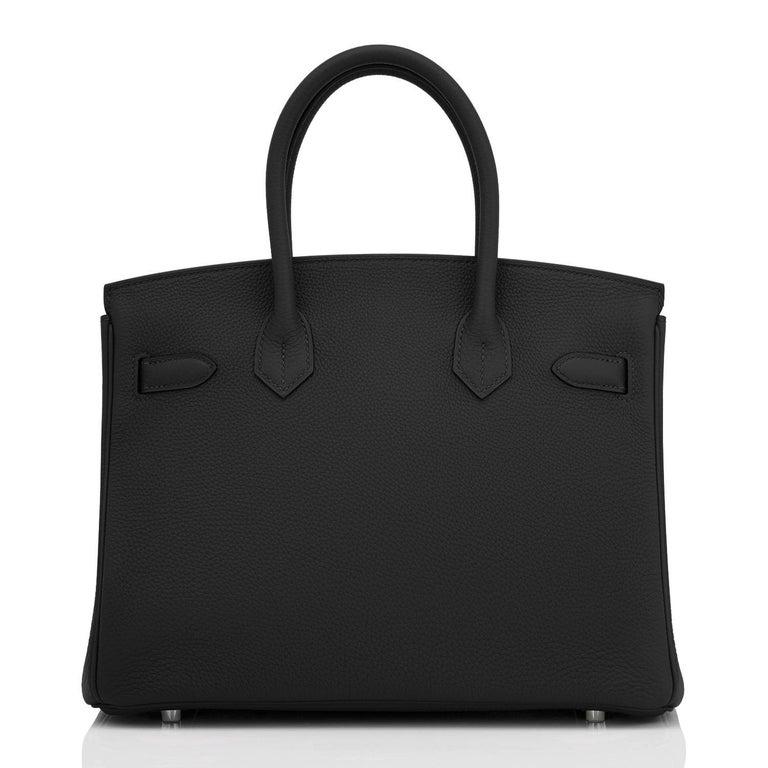 Hermes Birkin 30cm Black Togo Palladium Hardware Bag Z Stamp, 2021 For Sale 1