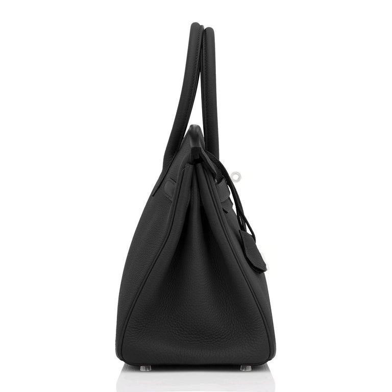 Hermes Birkin 30cm Black Togo Palladium Hardware Bag Z Stamp, 2021 For Sale 2