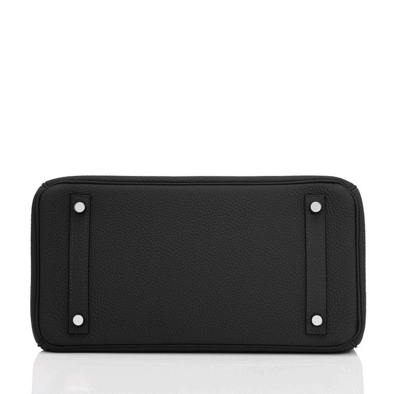Hermes Birkin 30cm Black Togo Palladium Hardware Bag Z Stamp, 2021 For Sale 4