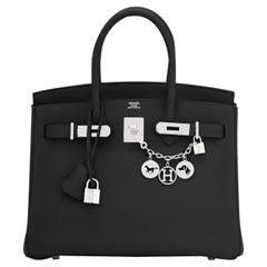 Hermes Birkin 30cm Black Togo Palladium Hardware Bag Z Stamp, 2021
