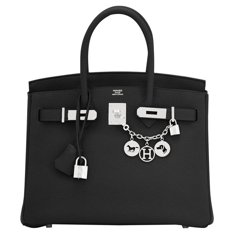 Hermes Birkin 30cm Black Togo Palladium Hardware Bag Z Stamp, 2021 For Sale