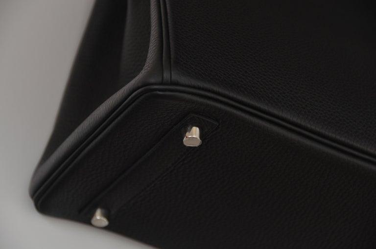 ef1c18895d4b Hermes Birkin 30cm Black Togo Palladium Hardware Handbag Mint For Sale 8