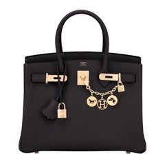 Hermes Birkin 30cm Black Togo Rose Gold Hardware Bag Z Stamp, 2021