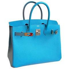 Hermès Birkin 30cm Blue du Nord Epsom Leather Palladium Hardware
