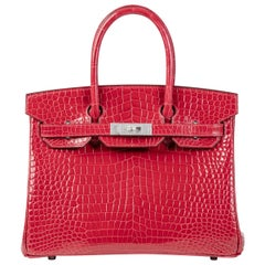 Hermes Birkin 30cm Braise Porosus with Diamond hardware
