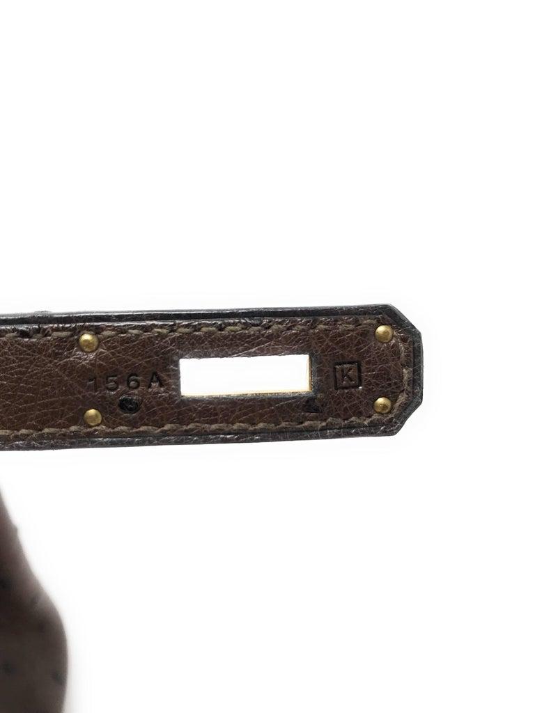 Hermes Birkin 30cm Chocolate Brown Ostrich For Sale 4