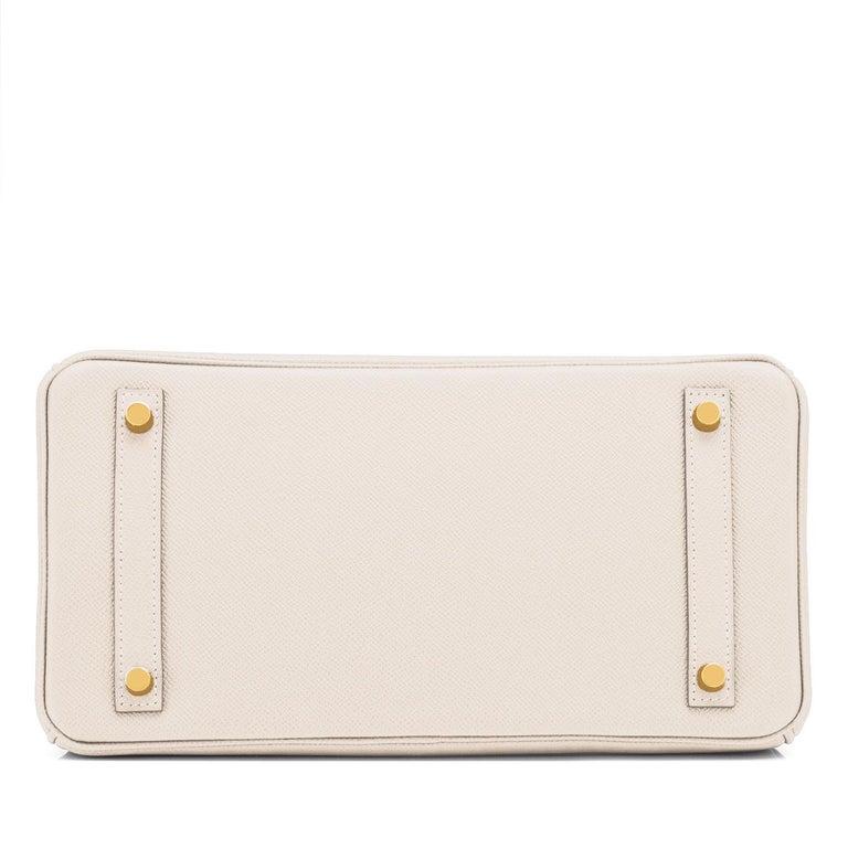 Hermes Birkin 30cm Craie Off White Epsom Gold Hardware Bag Z Stamp, 2021 For Sale 2