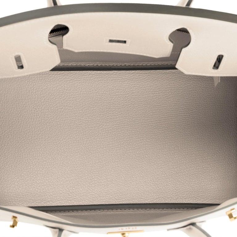 Hermes Birkin 30cm Craie Off White Epsom Gold Hardware Bag Z Stamp, 2021 For Sale 3