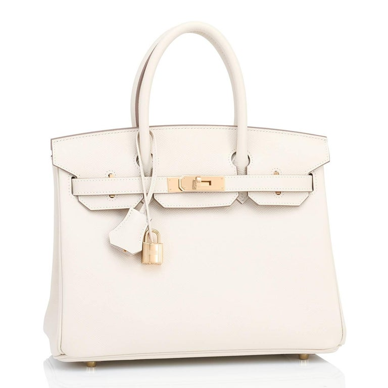 Hermes Craie 30cm Birkin Epsom Gold Hardware Off White  New or Never Used. Pristine Condition (with plastic on hardware) Perfect gift! Comes in full set with lock, keys, clochette, sleeper, raincoat, and Hermes box. Stunning Craie is the