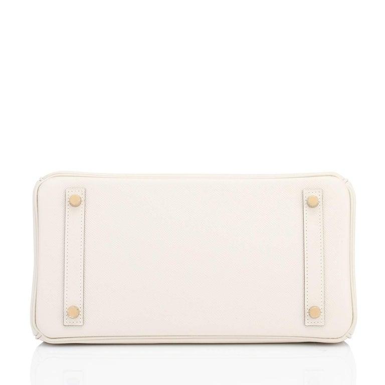Women's or Men's Hermes Birkin 30cm Craie Off White Epsom Gold Hardware NEW For Sale
