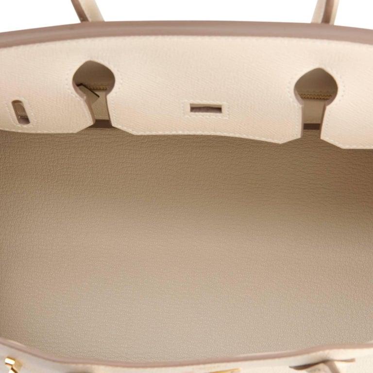 Hermes Birkin 30cm Craie Off White Epsom Gold Hardware NEW For Sale 2