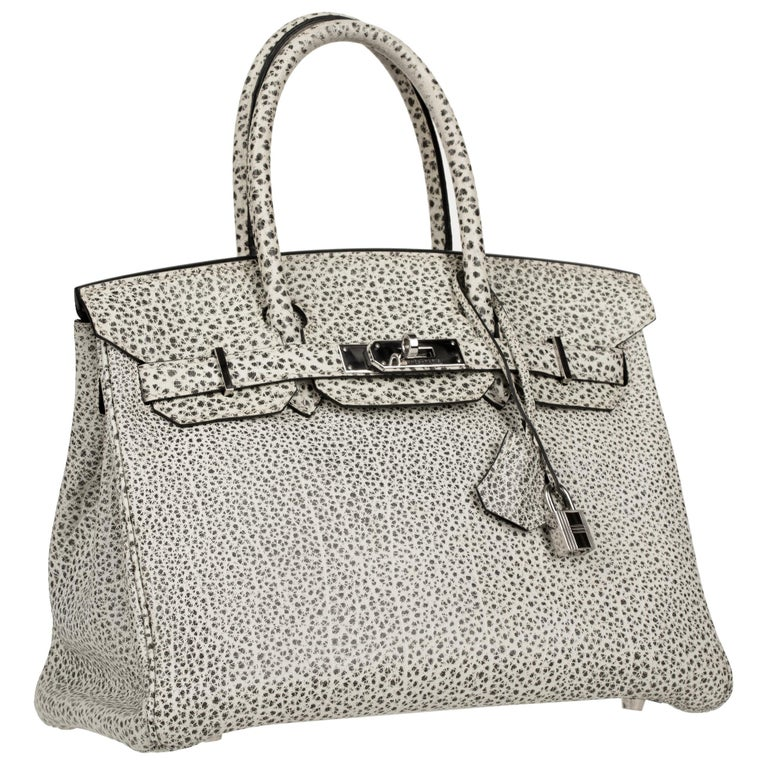 Brand: Hermès  Style: Birkin  Size: 30cm Colour: Dalmatian Black & White Leather: Buffalo  Hardware: Palladium Stamp: 2004 E   Condition: Vintage excellent: This item is vintage and shows natural signs of ageing. Detailed imagery is available upon