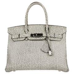 Hermès Birkin 30cm Dalmatian Buffalo Leather Palladium Hardware