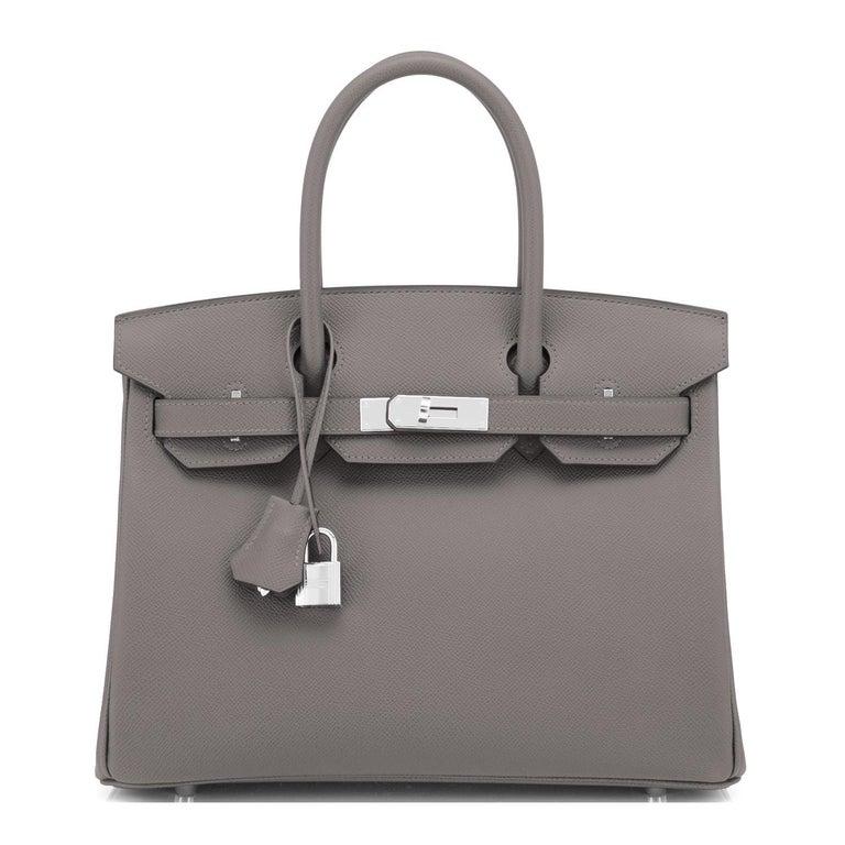 Gray Hermes Birkin 30cm Etain Tin Grey Epsom Palladium Hardware Y Stamp, 2020 For Sale