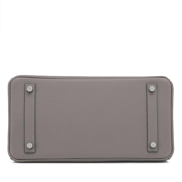 Hermes Birkin 30cm Etain Tin Grey Epsom Palladium Hardware Y Stamp, 2020 For Sale 2
