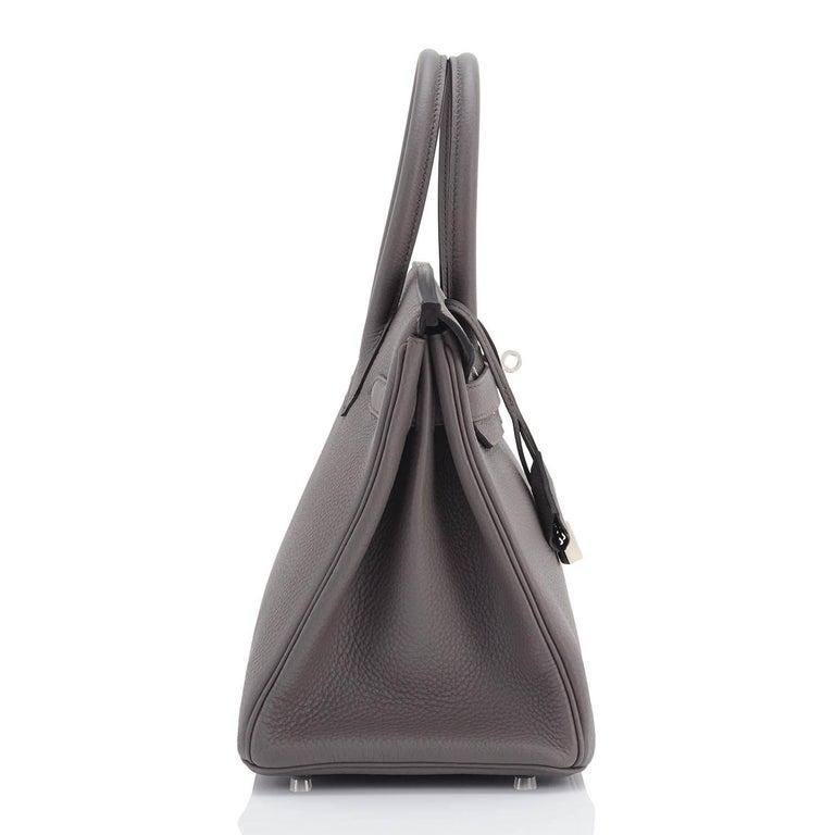 Hermes Birkin 30cm Etain Tin Grey Togo Palladium Hardware NEW For Sale 2