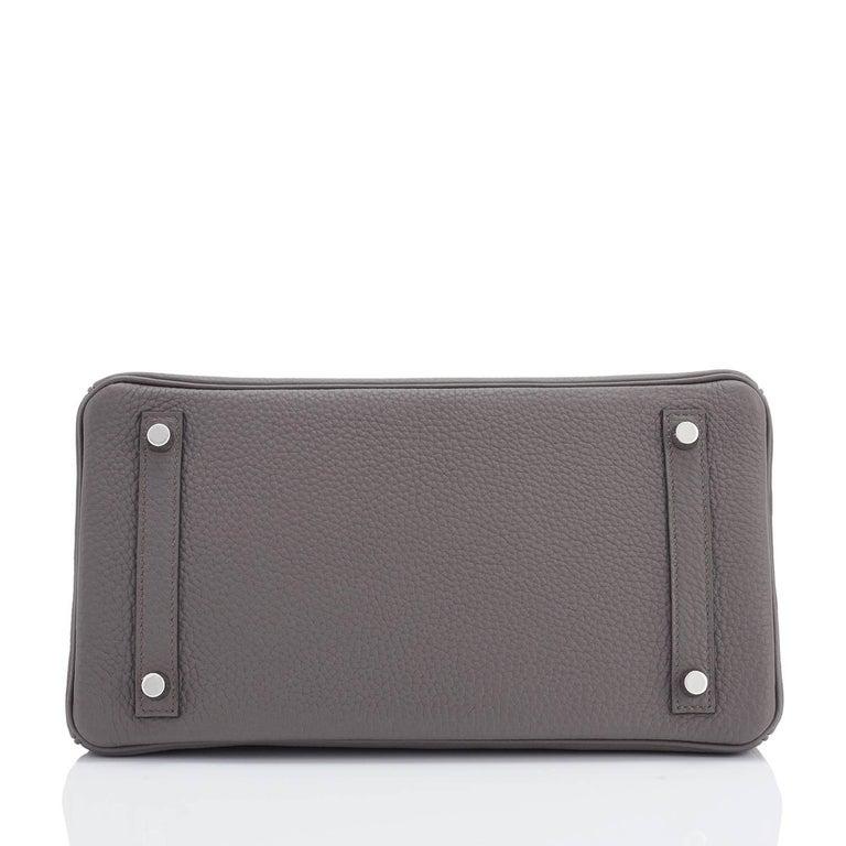Hermes Birkin 30cm Etain Tin Grey Togo Palladium Hardware NEW For Sale 3