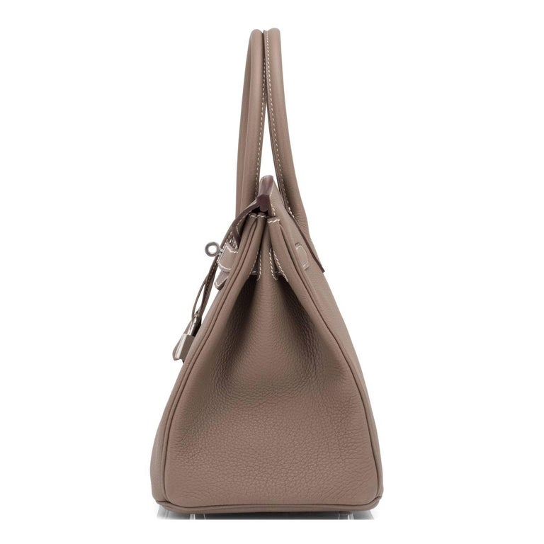 Hermes Birkin 30cm Etoupe Togo Birkin Taupe Bag Palladium NEW For Sale 2