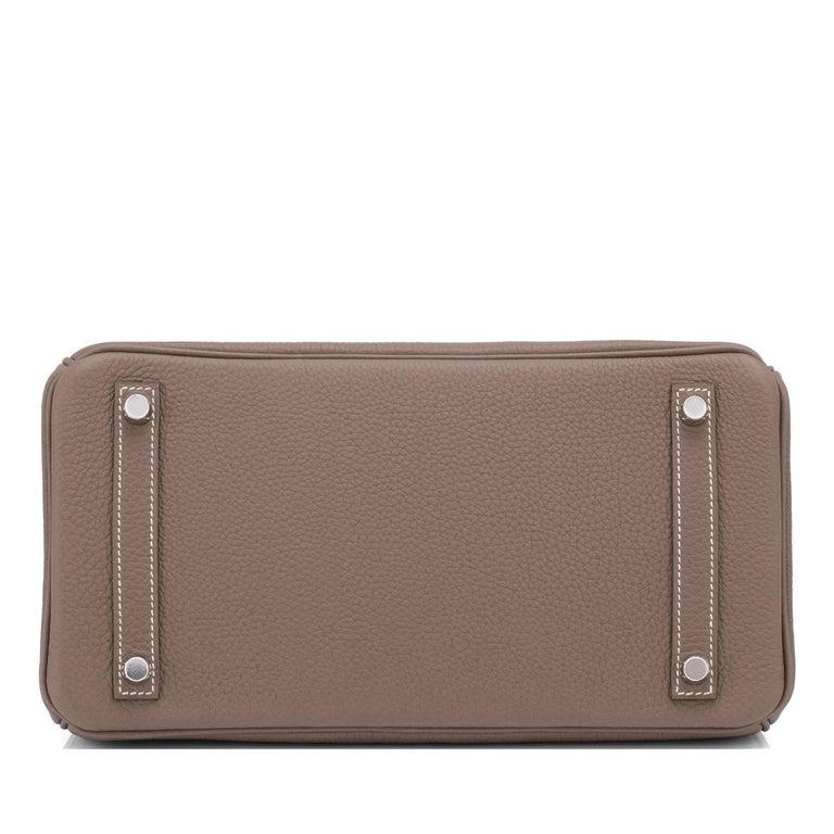 Hermes Birkin 30cm Etoupe Togo Birkin Taupe Bag Palladium NEW For Sale 3