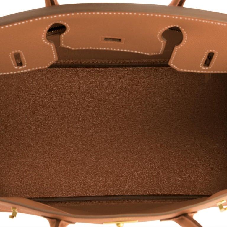Hermes Birkin 30cm Gold Camel Tan Gold Hardware Bag NEW For Sale 5
