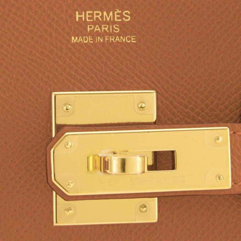 Hermes Birkin 30cm Gold Camel Tan Gold Hardware Bag NEW For Sale 7