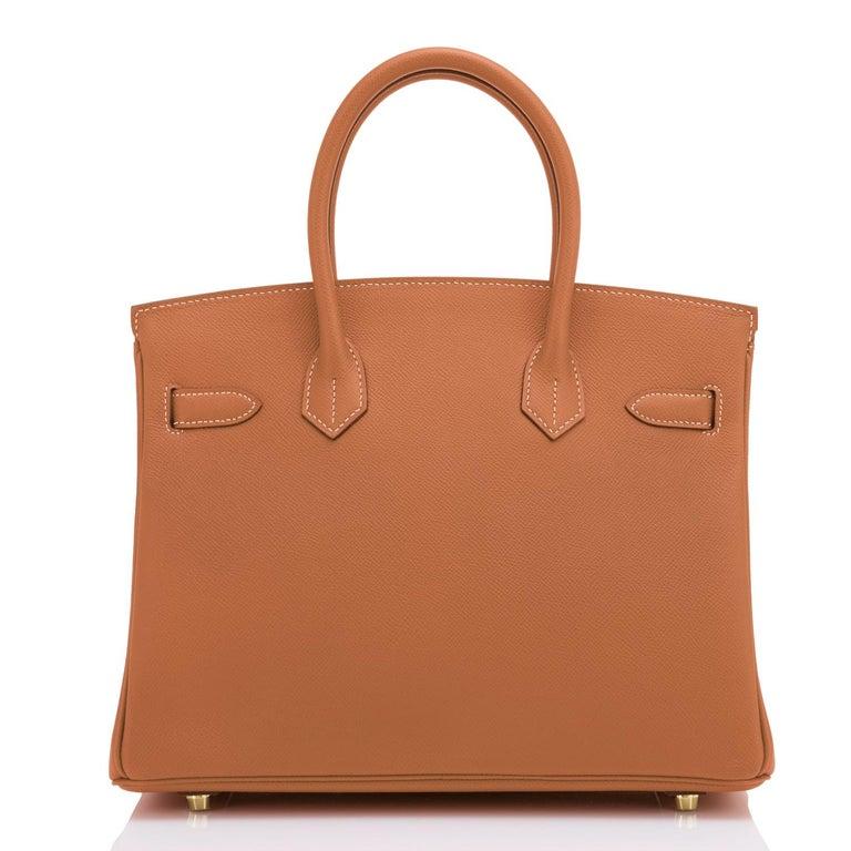 Women's or Men's Hermes Birkin 30cm Gold Camel Tan Gold Hardware Bag NEW For Sale