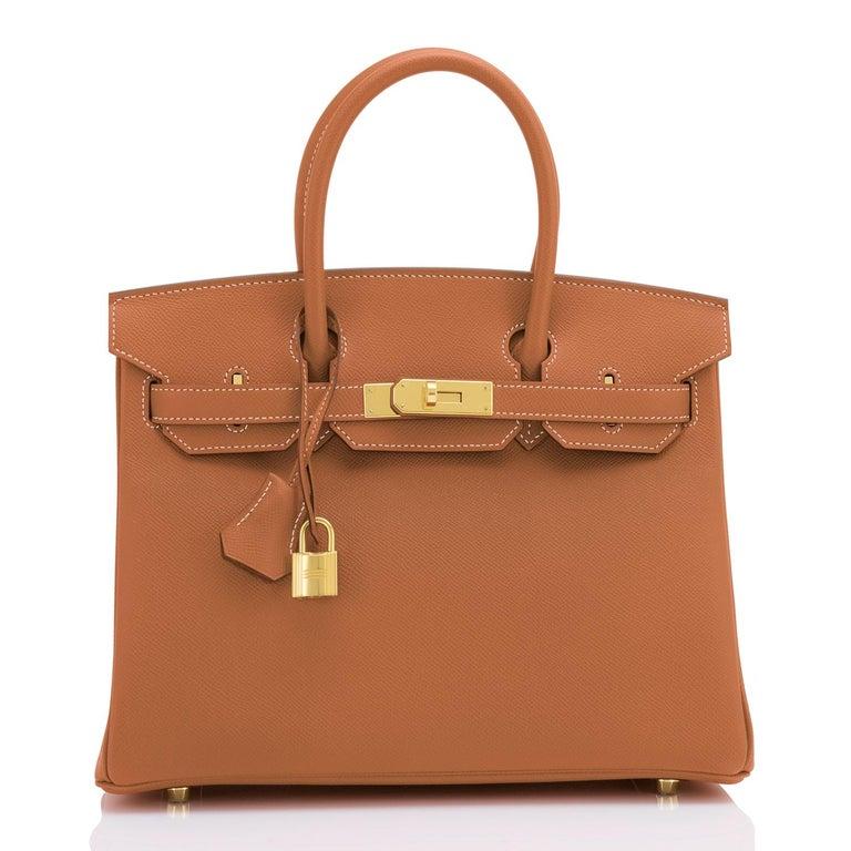 Hermes Birkin 30cm Gold Camel Tan Gold Hardware Bag NEW For Sale 1