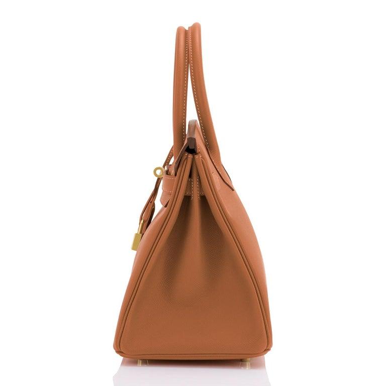 Hermes Birkin 30cm Gold Camel Tan Gold Hardware Bag NEW For Sale 2