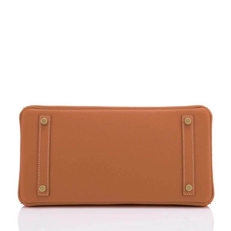 Hermes Birkin 30cm Gold Camel Tan Gold Hardware Bag NEW For Sale 4
