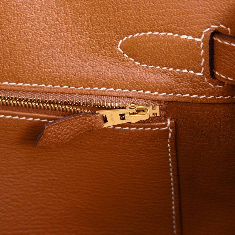 Hermes Birkin 30cm Gold Camel Tan Togo Gold Hardware Bag NEW For Sale 5
