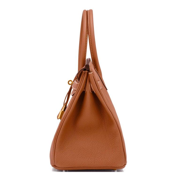 Women's or Men's Hermes Birkin 30cm Gold Camel Tan Togo Gold Hardware Bag NEW For Sale