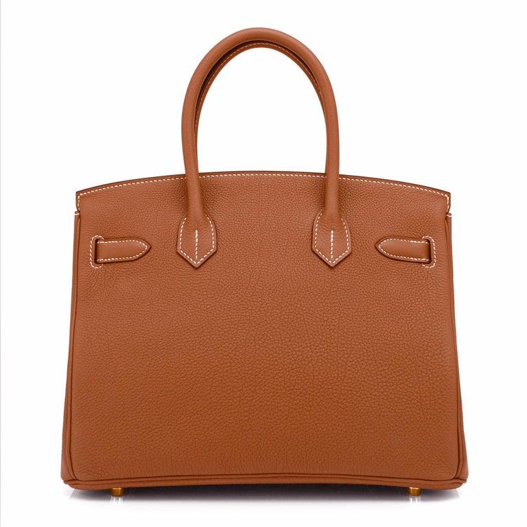 Hermes Birkin 30cm Gold Camel Tan Togo Gold Hardware Bag NEW For Sale 2