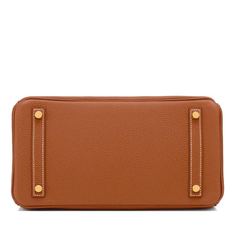 Hermes Birkin 30cm Gold Camel Tan Togo Gold Hardware Bag NEW For Sale 3
