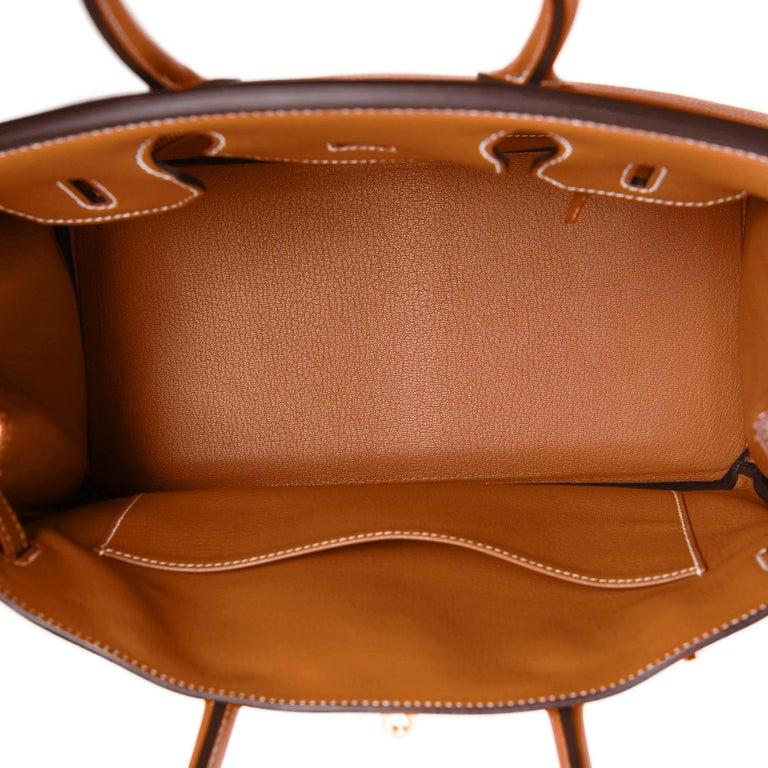 Hermes Birkin 30cm Gold Camel Tan Togo Gold Hardware Bag NEW For Sale 4