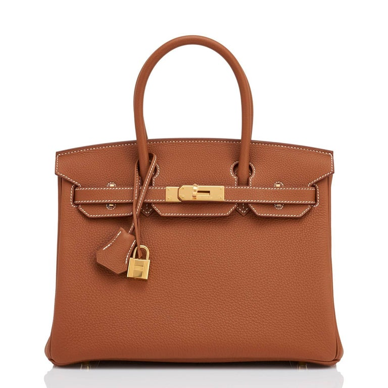 Hermes Birkin 30cm Gold Camel Tan Togo Gold Hardware Bag Y Stamp, 2020 In New Condition For Sale In New York, NY