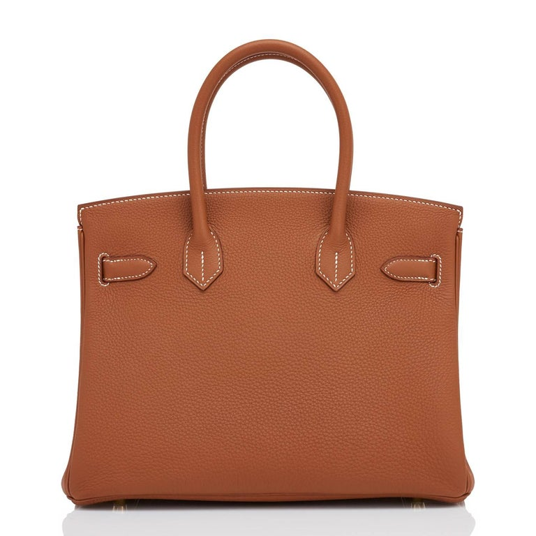 Hermes Birkin 30cm Gold Camel Tan Togo Gold Hardware Bag Y Stamp, 2020 For Sale 1