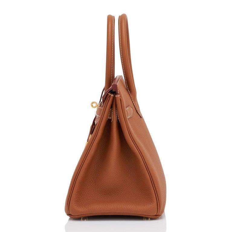 Hermes Birkin 30cm Gold Camel Tan Togo Gold Hardware Bag Y Stamp, 2020 For Sale 2