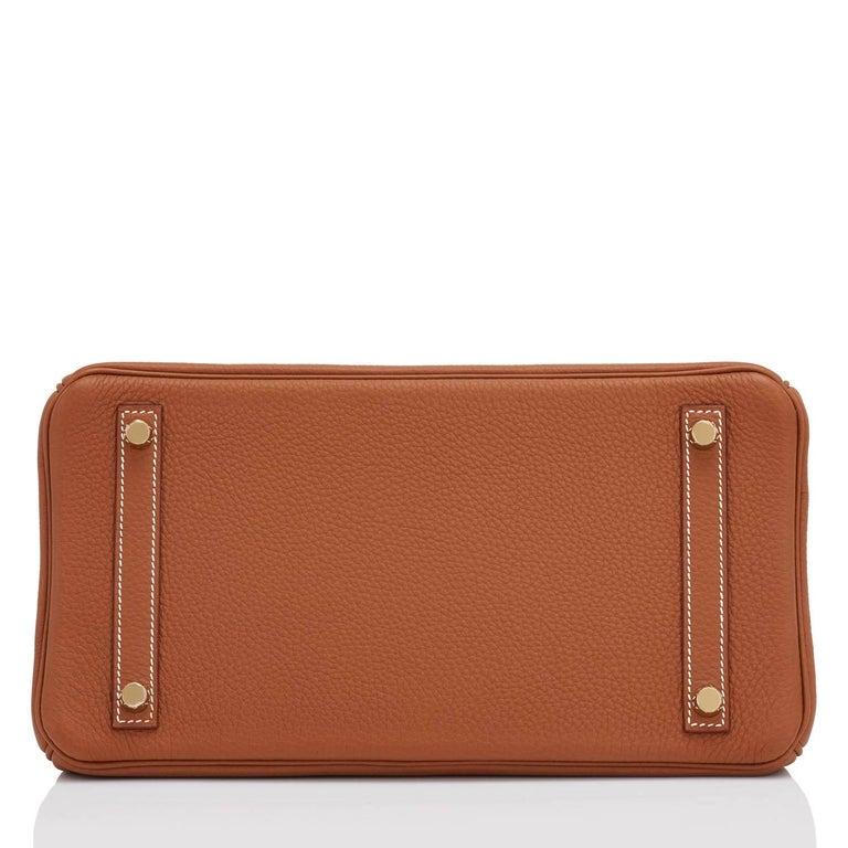 Hermes Birkin 30cm Gold Camel Tan Togo Gold Hardware Bag Y Stamp, 2020 For Sale 3